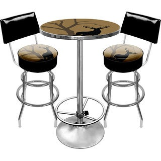 Hunt Deer Gameroom Combo 2 Stools w/ Back & Table