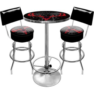 Hunt Skull Gameroom Combo 2 Stools w/ Back & Table