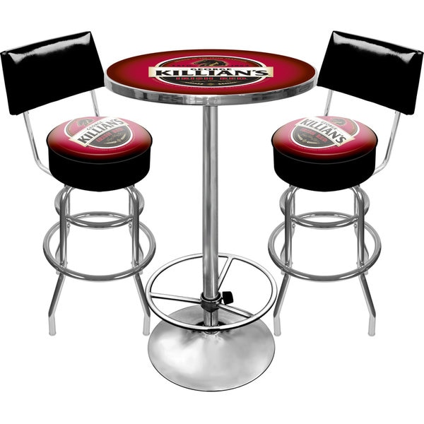 Killians Beer Gameroom Combo 2 Stools w/ Back & Table