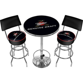 Ultimate Miller Genuine Draft Gameroom Combo 2 Stools w/ Back & Table