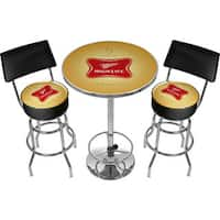Ultimate Miller High Life Gameroom Combo 2 Stools w/ Back & Table