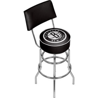 Brooklyn Nets NBA Padded Swivel Bar Stool with Back