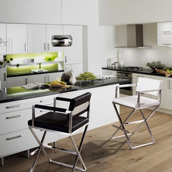 Pleasant Shop Director White Stainless Steel Counter Stool Free Caraccident5 Cool Chair Designs And Ideas Caraccident5Info
