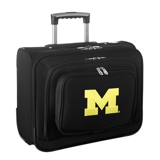 Denco Sports Legacy NCAA Michigan Wolverines Carry On 14-inch Laptop Rolling Overnight Tote
