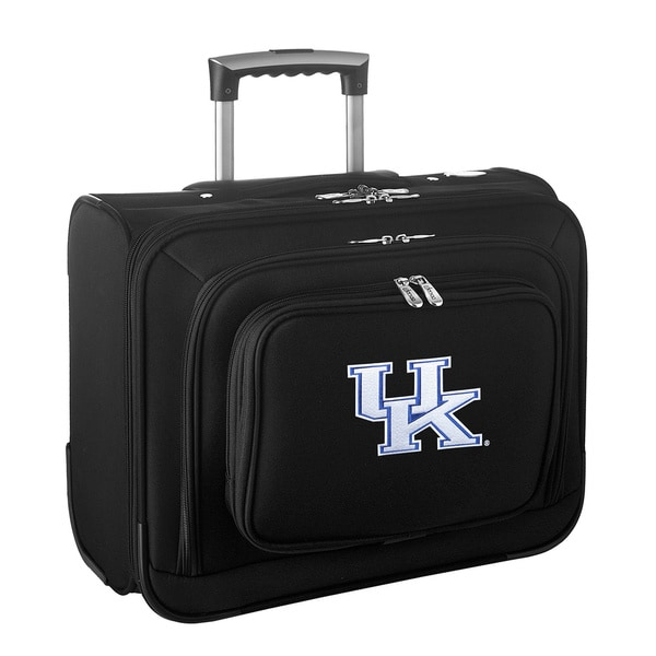 Denco Sports Legacy NCAA Kentucky Wildcats Carry On 14-inch Laptop Rolling Overnight Tote