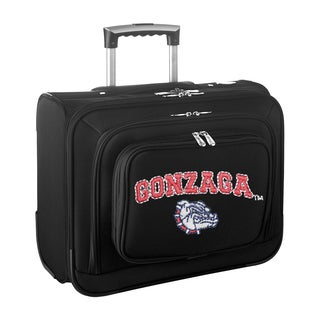 Denco Sports Legacy NCAA Gonzaga Bulldogs Carry On 14-inch Laptop Rolling Overnight Tote