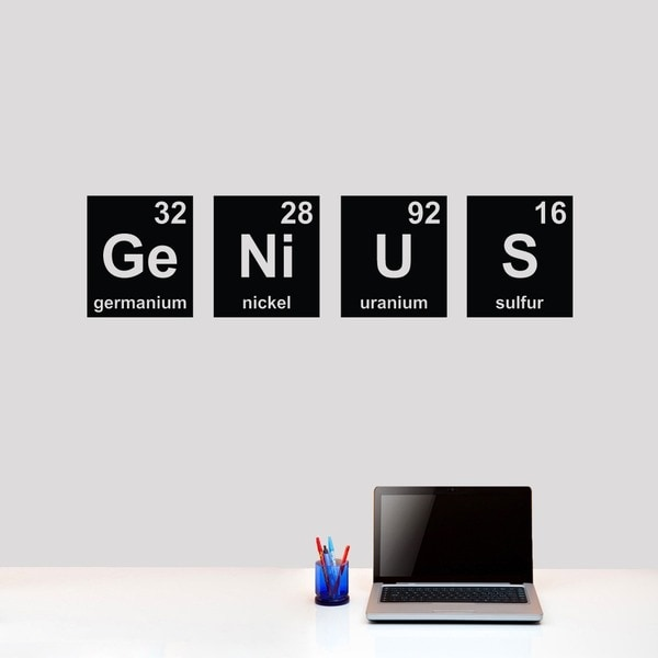 Genius Periodic Table 48 x 12 Wall Decal