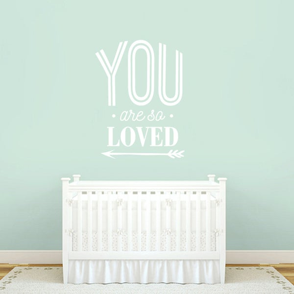 You Are So Loved 18-inch x 24-inch Wall Decal