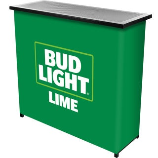 Bud Light Lime Metal 2 Shelf Portable Bar Table w/ Case