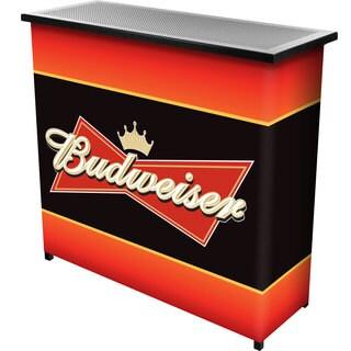 Budweiser Metal 2 Shelf Portable Bar Table w/ Carrying Case