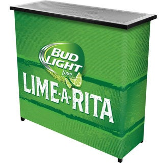 Bud Light Lime-A-Rita 2 Shelf Portable Bar woth Case