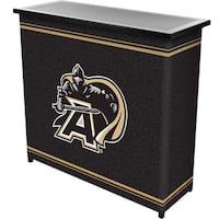 Army Black Knights 2 Shelf Portable Bar w/ Case