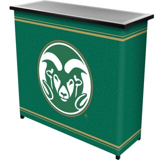 Colorado State 2 Shelf Portable Bar w/ Case
