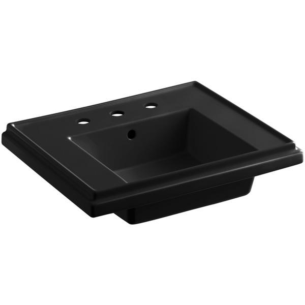 Tresham Pedestal Sink : Kohler Tresham 24 inch Pedestal Sink Basin in Black Black - Free ...