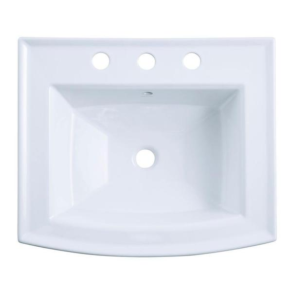 Kohler Archer 20 7 16 Inch Pedestal Sink Basin In White