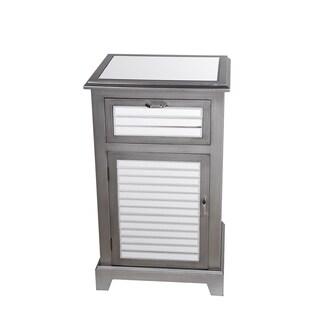 Privilege Gray 1 drawer, 1 Door Shutter Accent Stand
