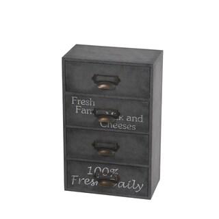 Privilege Grey 4-drawer Metal Cabinet