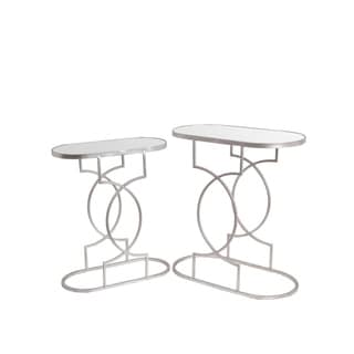 Privilege Silver Iron Stands (Set of 2)