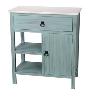 Privilege Green/ White 1-drawer Stand with Shelf