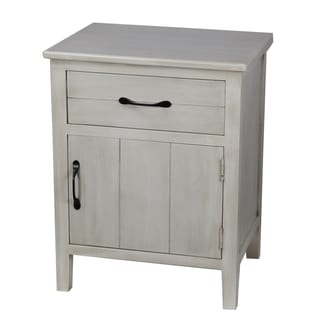 Privilege Antique White 1-drawer Accent Stand