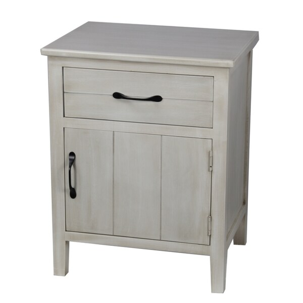 Hand Painted 190554780208 On 2 Door Storage Cabinet In Antique White