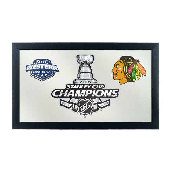Chicago Blackhawks Framed Logo Mirror - 2015 Stanley Cup Champs