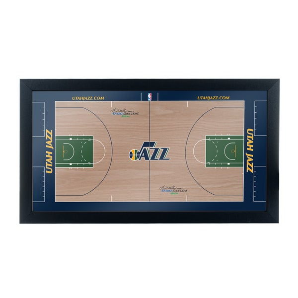Utah Jazz Official NBA Court Framed Plaque