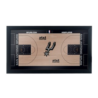 San Antonio Spurs Official NBA Court Framed Plaque