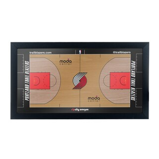 Portland Trail Blazers Official NBA Court Framed Plaque