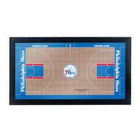 Philadelphia 76ers Official NBA Court Framed Plaque