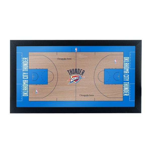 Oklahoma City Thunder Official NBA Court Framed Plaque