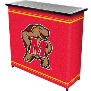 Maryland University 2 Shelf Portable Bar w/ Casee