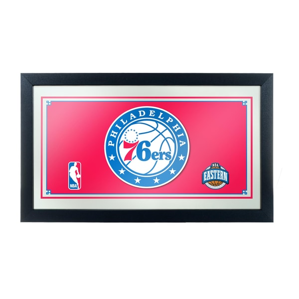 Philadelphia 76ers NBA Framed Logo Mirror