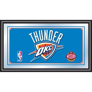 Oklahoma City Thunder NBA Framed Logo Mirror