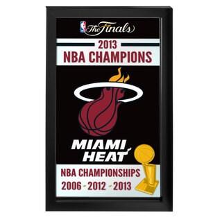 Miami Heat 2013 NBA Champions NBA Framed Logo Mirror