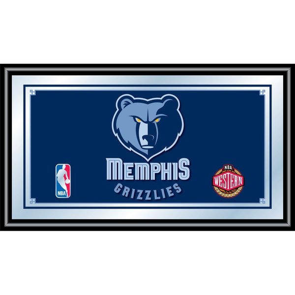 Memphis Grizzlies NBA Framed Logo Mirror
