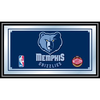 Memphis Grizzlies NBA Framed Logo Mirror