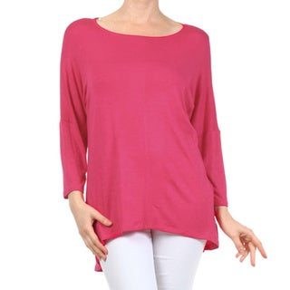 MOA Collection Women's Plus Size Solid Bell Sleeves Top