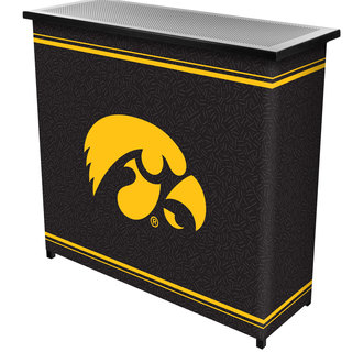 University of Iowa 2 Shelf Portable Bar w/ Case