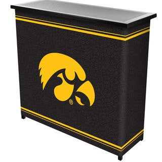 University of Iowa 2 Shelf Portable Bar w/ Case