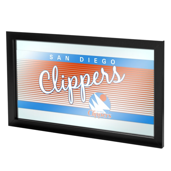 San Diego Clippers Hardwood Classics NBA Logo Mirror