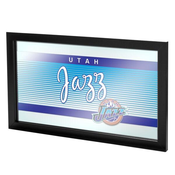Utah Jazz Hardwood Classics NBA Logo Mirror
