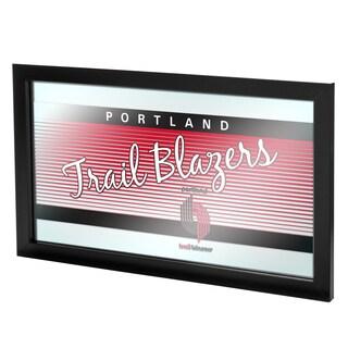 Portland Trail Blazers Hardwood Classics NBA Logo Mirror