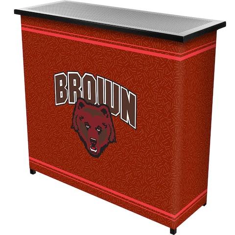 Brown University 2 Shelf Portable Bar w/ Case