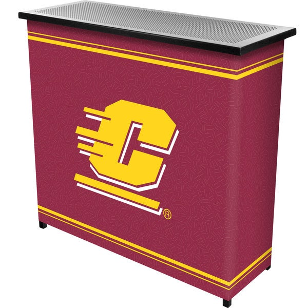 Central Michigan University 2 Shelf Portable Bar w/ Case