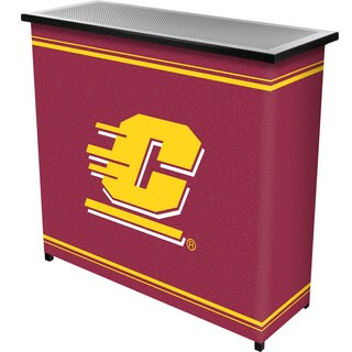 Central Michigan University 2 Shelf Portable Bar w/ Case