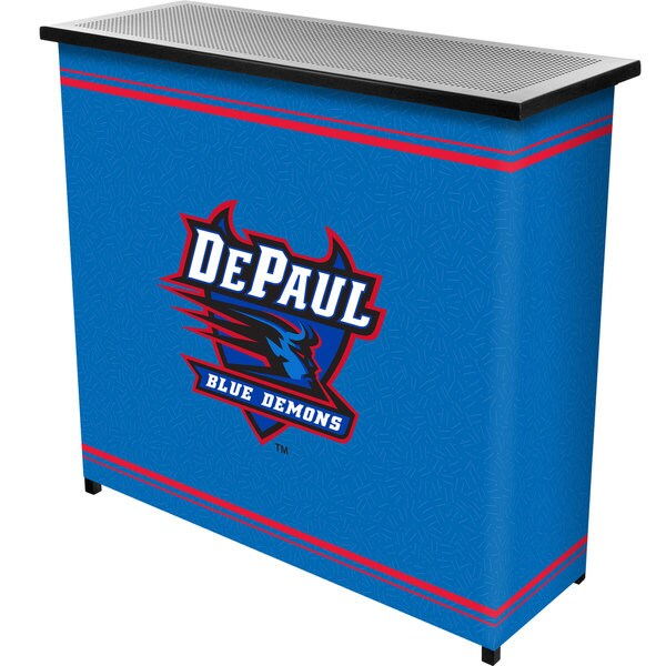 DePaul University 2 Shelf Portable Bar w/ Case