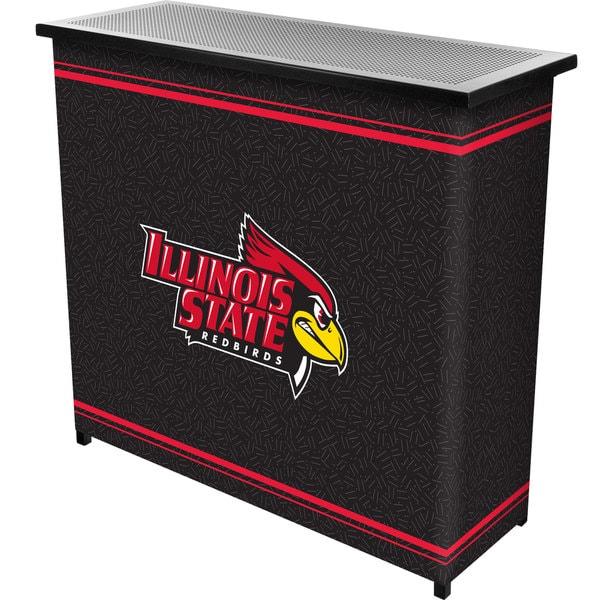 Illinois State University 2 Shelf Portable Bar w/ Case