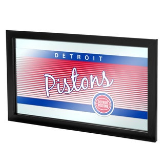 Detroit Pistons Hardwood Classics NBA Framed Logo Mirror