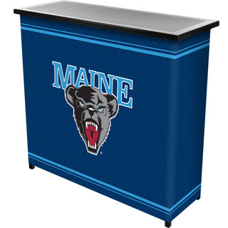 University of Maine 2 Shelf Portable Bar w/ Case
